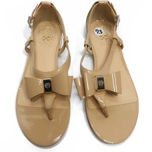 Vince Camuto Nude Bow Sandals Size 7.5 EUC
